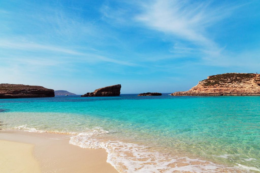 Plage sable blanc Espagne