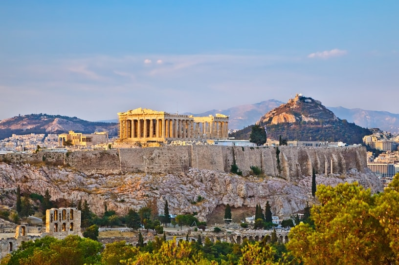 acropole en grece a athene