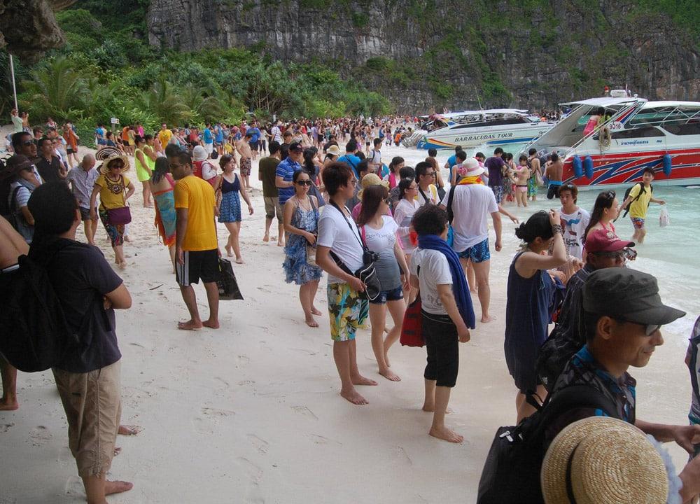 Koh phi phi busy thailande