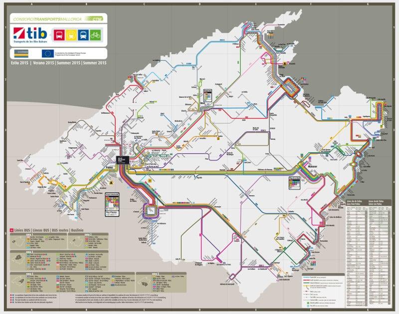 carte du reseau de bus de majorque