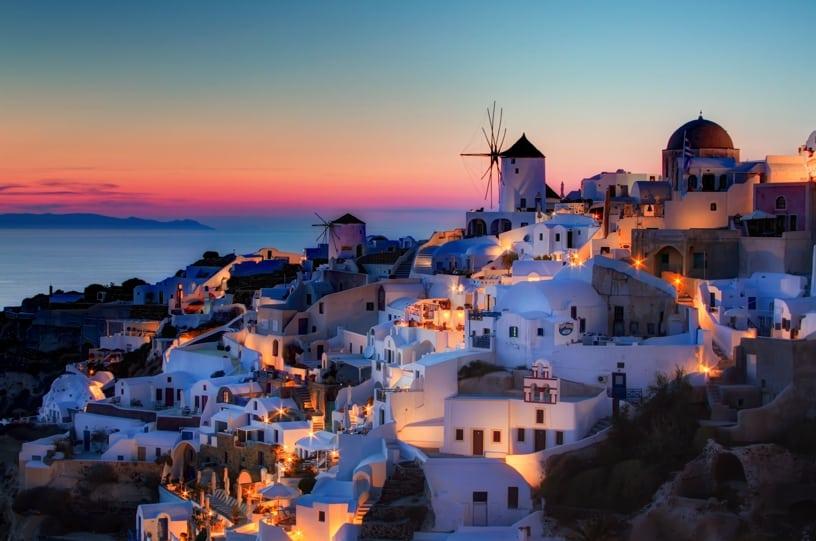 Oia_Santorini_HDR_sunset
